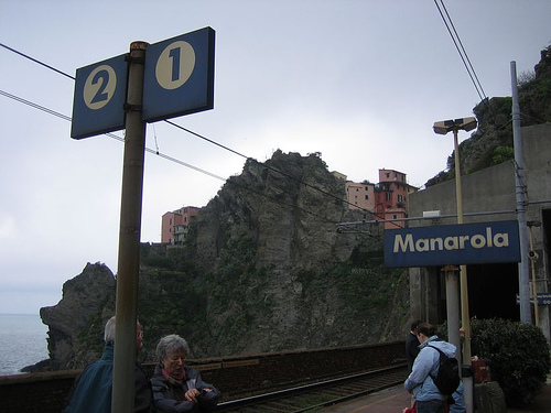 train station in Manarola, Italy.