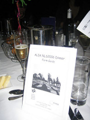 Menu for conference dinner, NLS2006