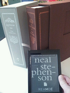 Several books by Neal Stephenson